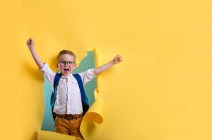 online learning in kindergarten boy